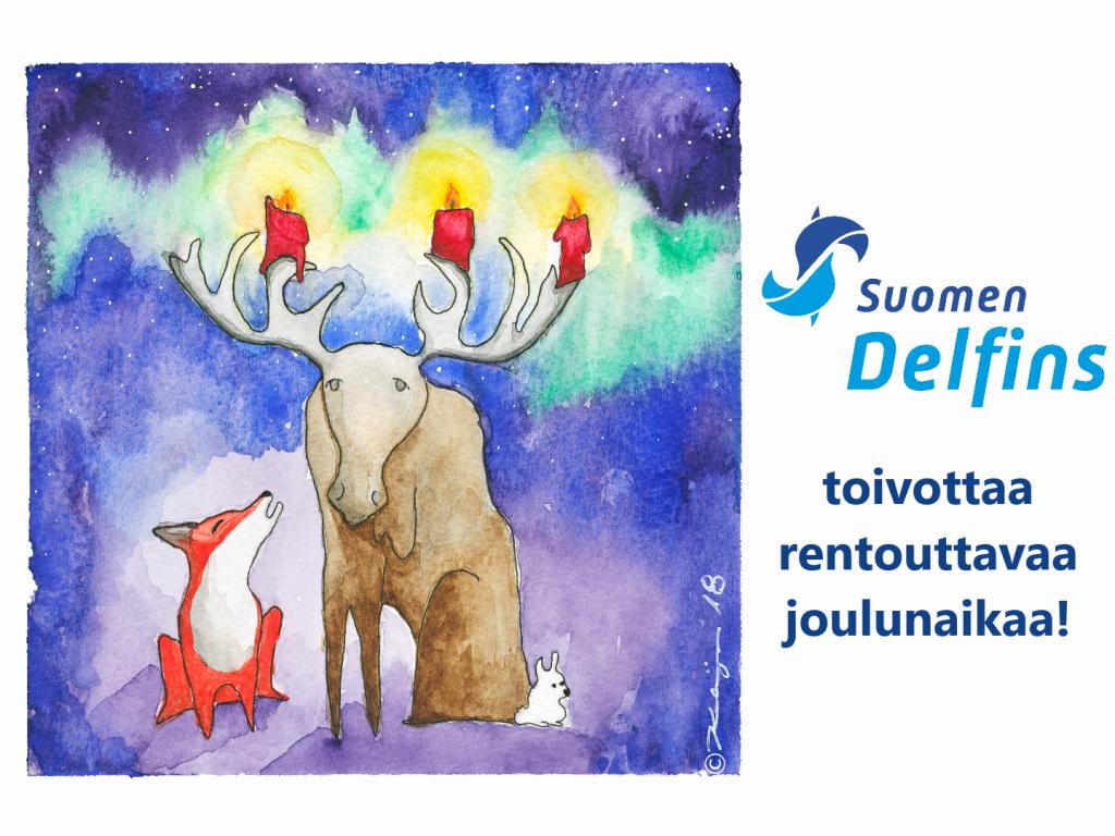 Suomen Delfins toivottaa rentouttavaa joulunaikaa!